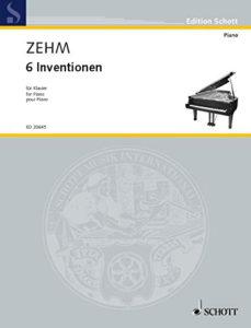 Schott 20645 Zehm 6 Inventionen für Klavier
