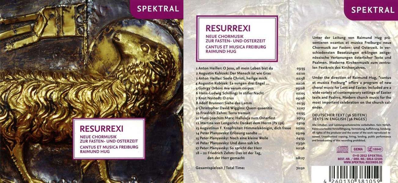 cantus et musica Freiburg Rexurrexi Chormusik Osterzeit CD